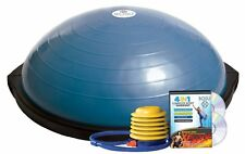 DOME Shaped BALANCE BALL w/ Exercise DVD Pump Fitness Body Trainer Holds 300 lbs