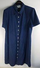 VINTAGE 80's 90's Denim Shirt Dress Size L Midi Length Made In Australia EX COND