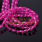 New 100pcs 5X3mm Teardrop Crystal Glass Faceted Spacer Loose Beads Rose