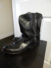 Men's Black Leather Motorcycle Boot 11 D