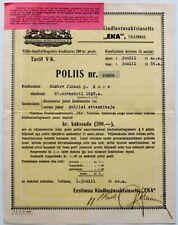 1940 Estonia Insurance Policy Society EKA Tallinn