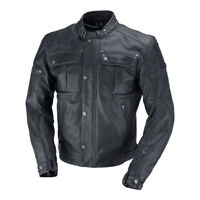 IXS Harding Leather Motorcycle Jacket Antique Black - Mens