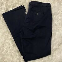Ann Taylor Loft Womens Size 8P Petite Navy Blue Zoe Boot Cut Chino Pants NWT $59