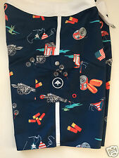 Lrg Usa American Flag Themed Boardshorts Board Shorts Size 31