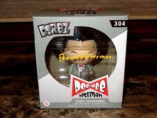 Pee-Wee Herman Rare Signed Limited Edition Dorbz Vinyl Figure Paul Reubens + COA