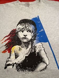 Vintage 1986 LES MISERABLES Musical BROADWAY SHOW Retro Theater T-SHIRT Gray