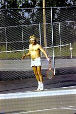 35mm Blonde Haired Man In Shorts Playing Tennis May 1973