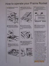 Timpo train sets operation sheet to suit all sets copy off original sheet new
