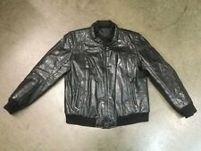 Vintage 60's 70's The Boutique Canada Cafe Racer Leather Motorcycle Jacket sz 38