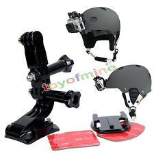 Helmet Front Mounting Kit with Curved and Flat mount for Gopro HD 1 2 3 3+ 4