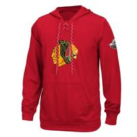 Chicago Blackhawks Reebok Center Ice TNT Speedwick Red Pullover Hoodie Men's