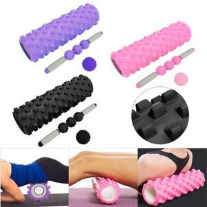 Foam Roller & Massage Ball Set, Trigger Point Muscle Massager 3 Piece Set