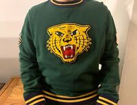 POLO RALPH LAUREN TIGER RL GREEN SWEATSHIRT RRL PATCH VARSITY NO BEAR SWEATER M