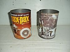 2 Old Vintage Max Pax  Currier & Ives Coffee Can Tins 12 oz