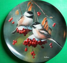 #4 Chickadee Birds Of Your Garden Collection Kevin Daniel Knowles Plate