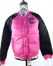 Converse Girls Varsity Style Puffy Parka Jacket Pink Size XL NWT