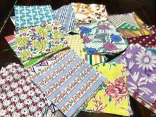 Lot Of 50 Vintage Feed Sack 3� Sq. Quilt Blocks Cotton Fabric Crafts