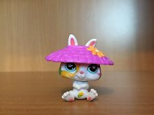 Littlest Pet shop Daisy Postcard Bunny With Purple Hat RARE