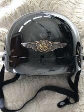 Harley Davidson Half Helmet DOT Approved Open Face High Gloss Black