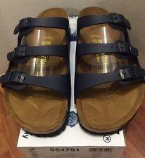 Birkenstock Florida 054751 size 41 L10-10.5 R Blue Birko-Flor  Sandals
