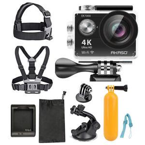 Akaso Ultra HD Waterproof Sports Camera (EK7000) with Sports Camera Starter Kit