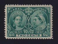 Canada Sc #52 (1897) 2c green Diamond Jubilee Mint VF H