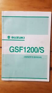 Suzuki GSF1200/S  K3 Owners Manual