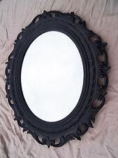 Espejo de Pared Negro 58x68 Barroco antiguo ovalado baño decoración moderno 3041