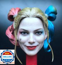 "1/6 Harley Quinn Head Sculpt 2.0 Prison Version Suicide Squad For 12"" Figure"