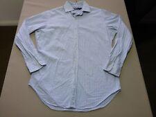 045 MENS NWOT POLO RALPH LAUREN BLUE / WHT / BLK STRIPE L/S SHIRT 15 1/2 $160.