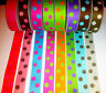 """REVERSIBLE POLKA DOT Ribbon trim satin Double Sided -1"""" wide - sold by the Metre"""