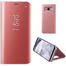 MP4 Telecom Coque à Rabat avec un Effet Miroir pour Samsung Galaxy S8 - Rose