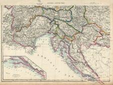 IMPERO AUSTRIACO SW. Dalmazia Croazia VENEZIA TIROLO Carinzia. DOWER 1863 mappa