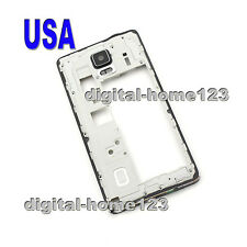 Black For Samsung Galaxy Note 4 SM-N910F Housing Bezel Middle Frame Cover parts