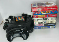 ✅ SEGA Genesis Model 2 MK1631 System Console Controller 8 Games CIB Bundle Lot