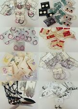 Wholesale Lot 100 pairs Stud Earrings Dangle Hoop New Fashion Jewelry