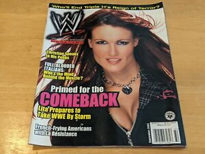 LITA Amy Dumas Sexy Cover WWE MAGAZINE Wrestling September 2003 Issue Christian+