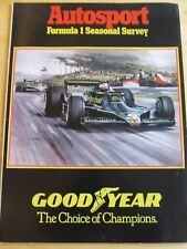 AUTOMOBILE SUPPLEMENT MAGAZINE FORMULA 1 SEASONAL SURVEY DEC 1978 LOTUS