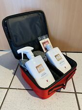 Genuine AUTOGLYM 6 Piece LEATHER CLEANING BALM VALETING BAG KIT CAR SET Red