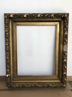 Antique Circa 1885 Thick and Chunky Gesso Gilt Victorian Frame