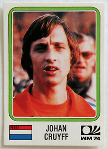 Panini Soccer Sticker Card #89 Johan Cruyff Munich 74 World Cup Story 1990