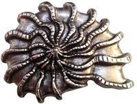 Gürtelschnalle Muschel, silberfarbig aus Metall