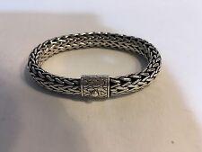 """John Hardy Classic Wheat Chain Bracelet 10mm Sterling 8.0"""""""