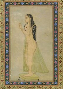 A Lady at Prayer. Mughal, circa 1900. Islamic Art Poster