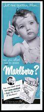 1950 baby asks mom to smoke Marlboro Cigarettes photo vintage print ad