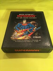 Superman - Atari 2600 - Cleaned and Tested - Works Great! Picture Label
