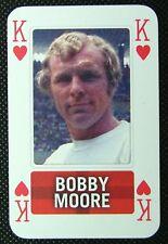 1 x playing card single swap England Football Bobby Moore King of Hearts