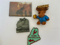 Refrigerator Kitchen Magnets State of Maine USA set of 4 attractions places