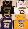 #23 LeBron James Los Angeles Lakers Purple/Yellow/Black Men's Stitched Jersey