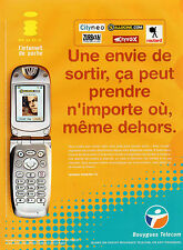 Publicité 2003  BOUYGUES TELECOM le i-mode l'internet de poche